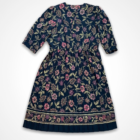 Vintage Floral Tea Dress by Breli Originals